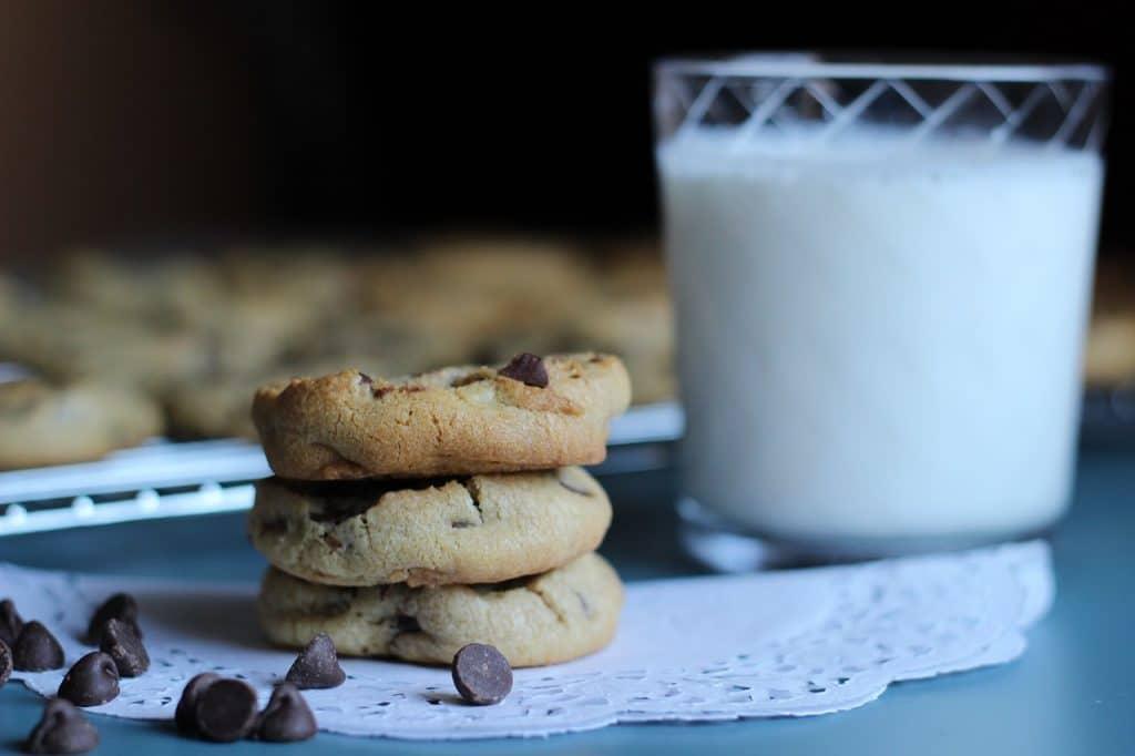 Cookies et lait
