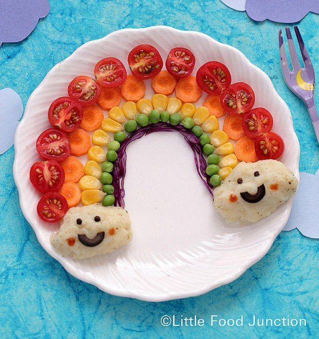Assiette de légumes : Source Little Food junction