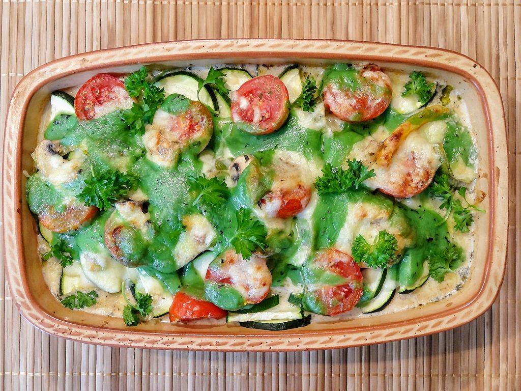 Plat à base de légumes : courgette