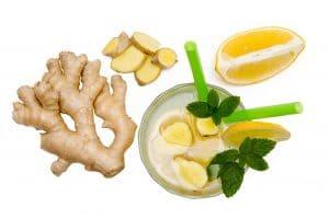 Boisson infusée citron-gingembre