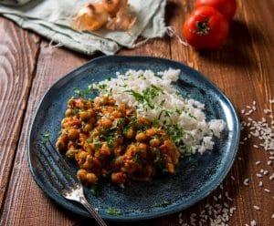 Curry de Pois-chiche : plat avec légumineuses