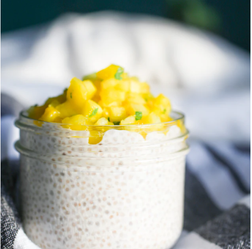 pudding chia mangue