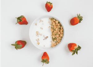 Muesli fraises et lait